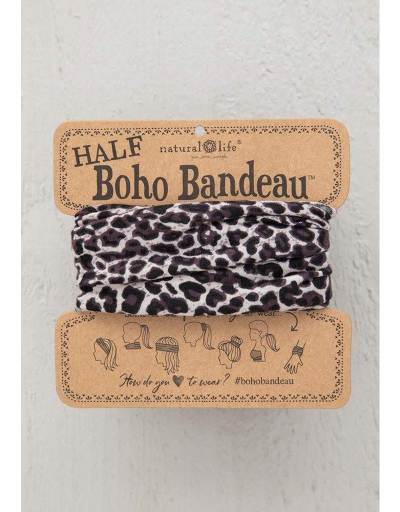 Natural Life Half Boho Bandeau - Gray Leopard