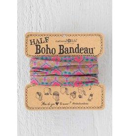 Natural Life Half Boho Bandeau - Gray Pink Stamp
