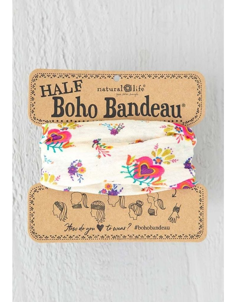 Natural Life Half Boho Bandeau - Heart Flowers