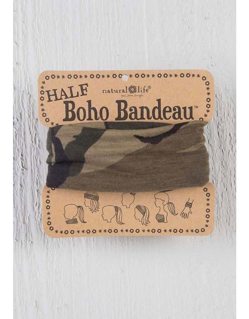 Natural Life Half Boho Bandeau - Olive Camo