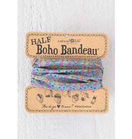 Natural Life Half Boho Bandeau - Turquoise Orange Stamp