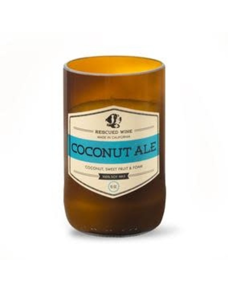 Rescued Wine Coconut Ale Soy Candle