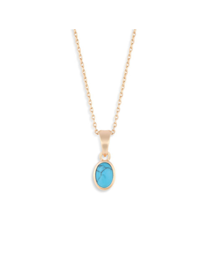 Demdaco Gold Giving Necklace - Turquoise