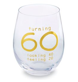Mud Pie '60' Wine Glass