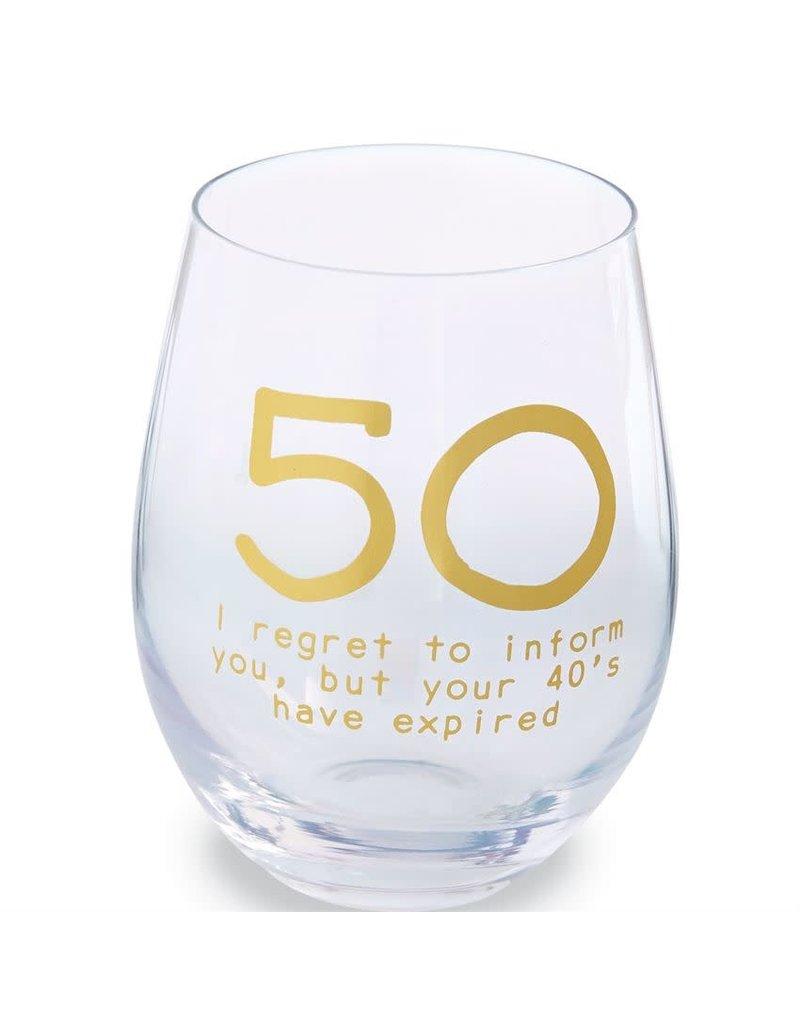 Mud Pie 50 Boxed Wine Glass Set