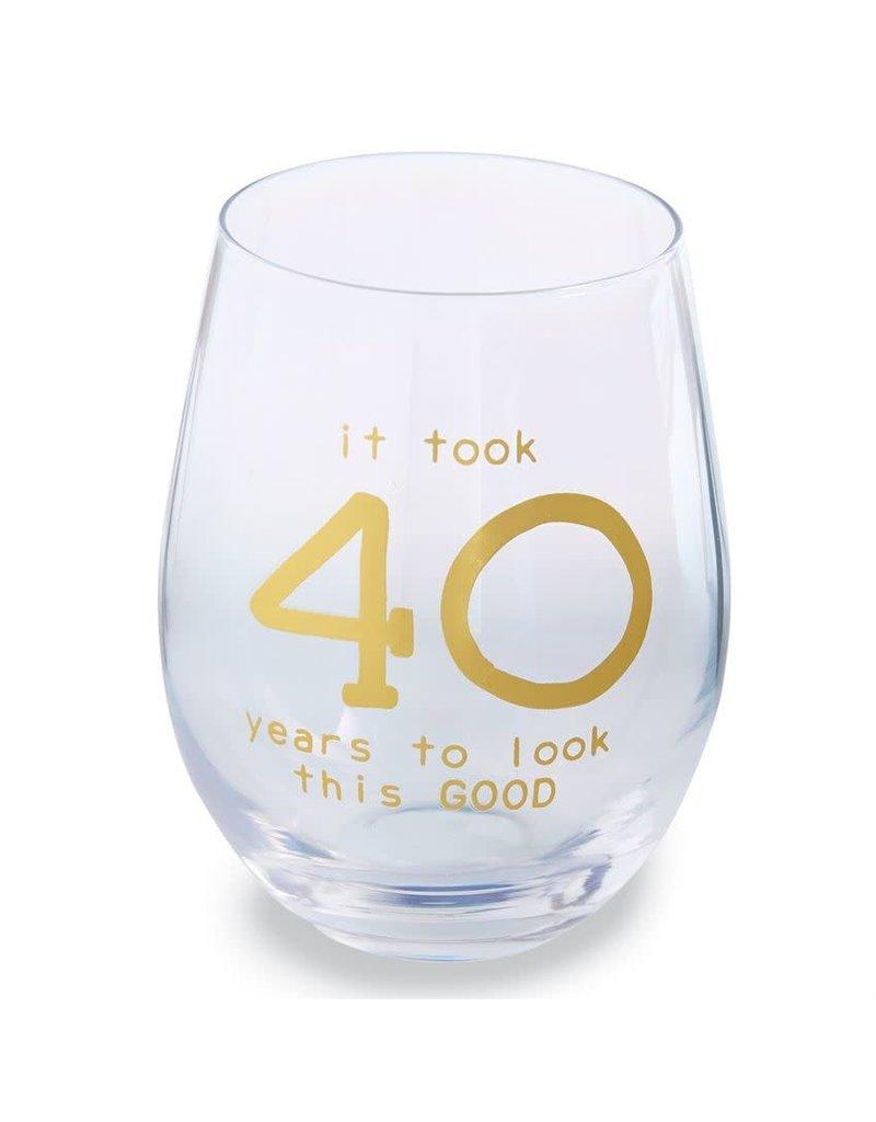 Mud Pie 40 Boxed Wine Glass Set