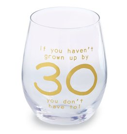 Mud Pie '30' Wine Glass