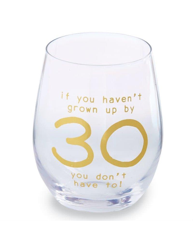 Mud Pie 30 Boxed Wine Glass Set