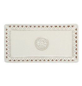 Mud Pie Floral Hostess Terracotta Tray