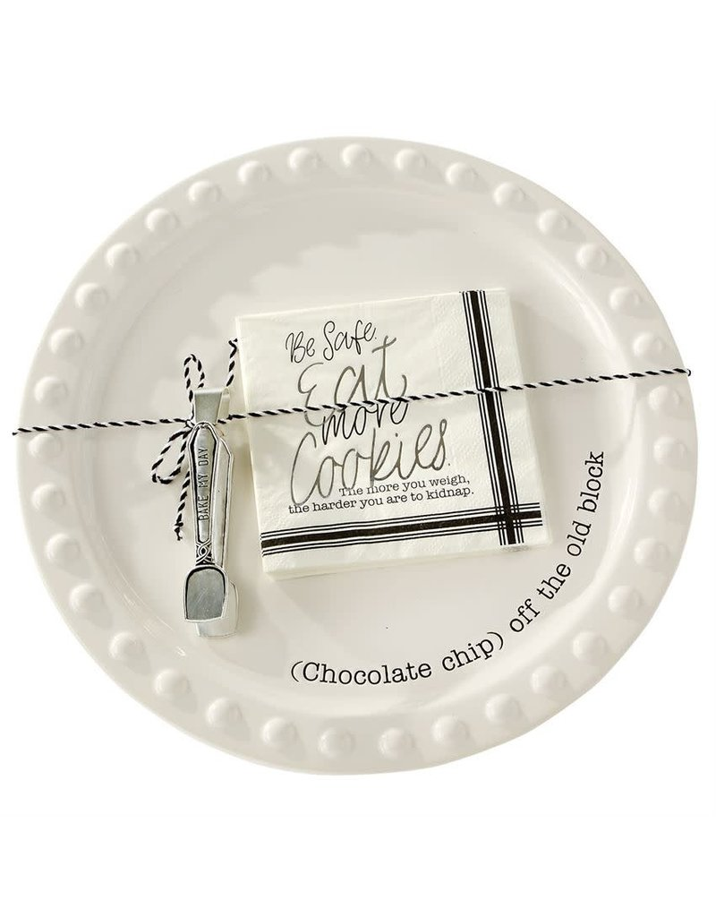 Mud Pie Cookie Plate Serving Set