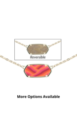 Jilzarah Jilzarah Reversible Hexagon Necklaces