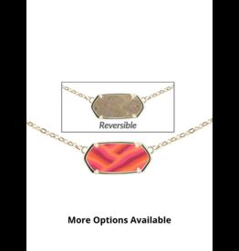 Jilzarah Reversible Hexagon Necklaces