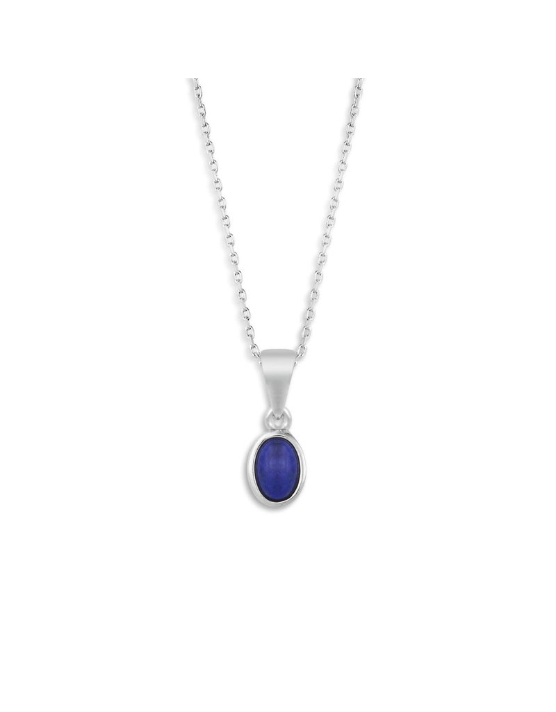 Demdaco Silver Giving Necklace - Lapis
