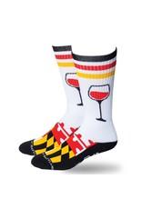 MarylandMyMaryland Bring Wine Crew Socks