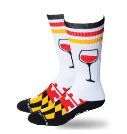 MarylandMyMaryland Bring Wine Crew Socks