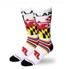 MarylandMyMaryland Maryland Flag Stripe Crew Socks