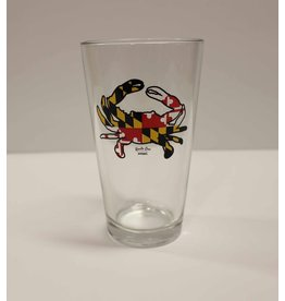 Route One Apparel Maryland Flag Crab Pint Glass