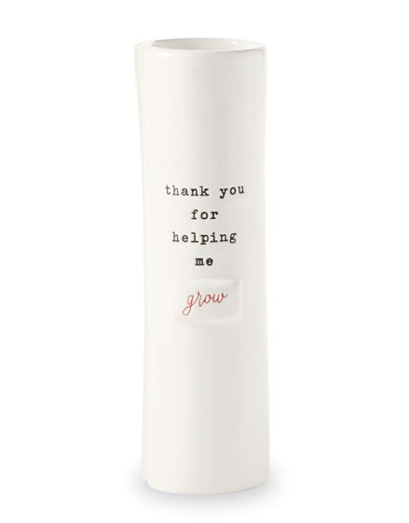 Mud Pie 'Thank You For Helping Me Grow' Stem Vase