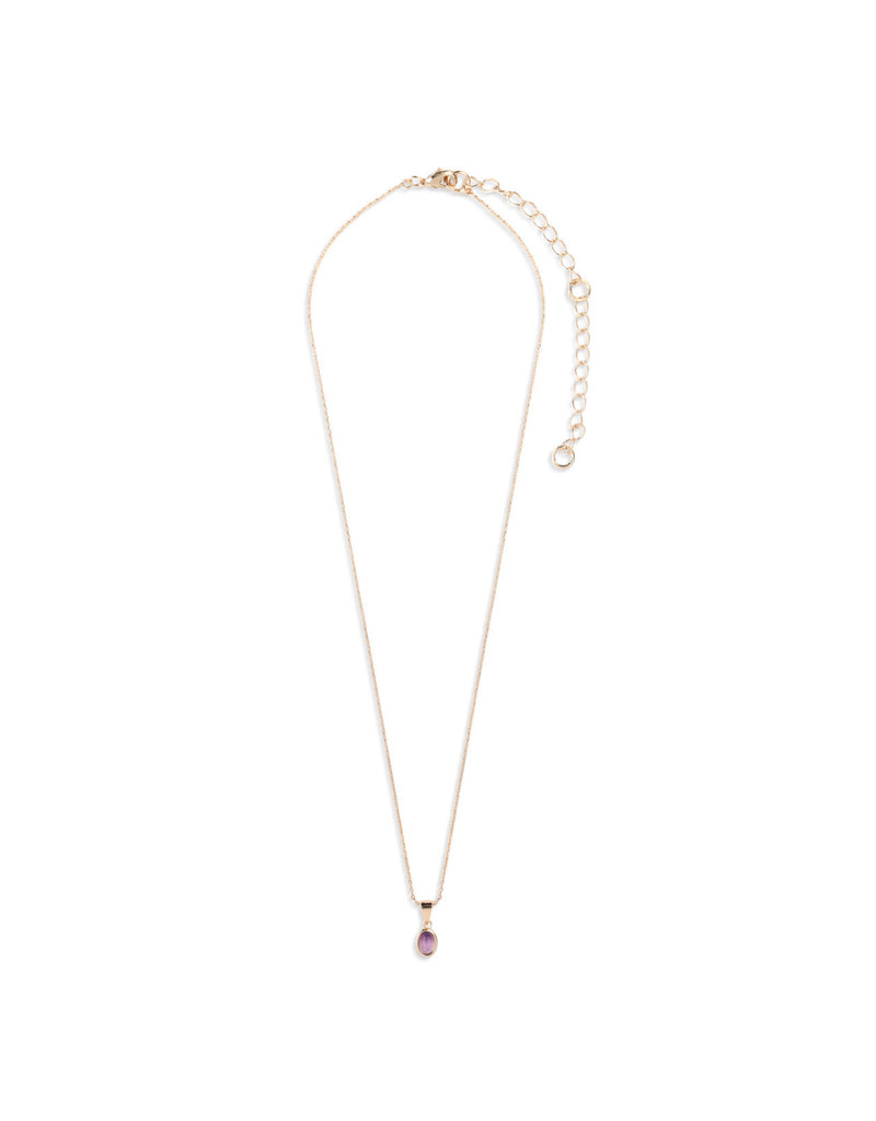 Demdaco Gold Giving Necklace - Amethyst
