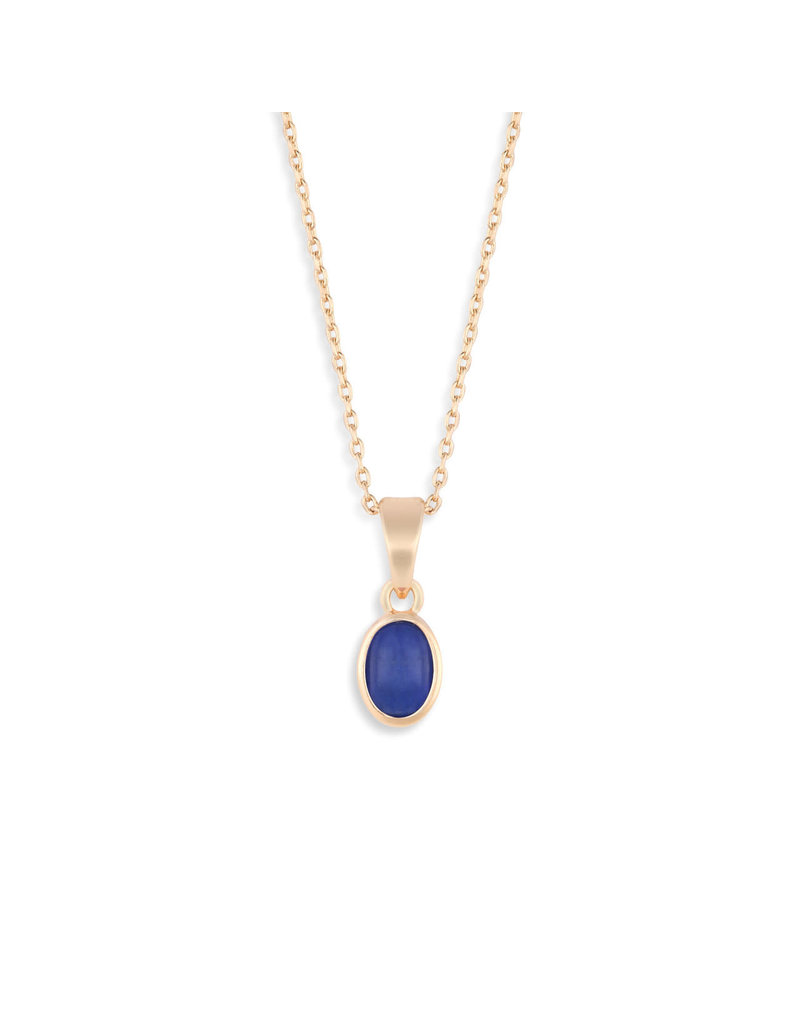 Demdaco Gold Giving Necklace - Lapis