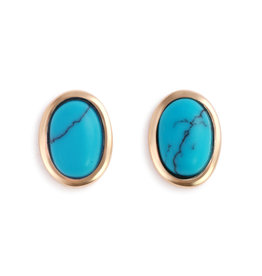 Demdaco Turquoise Giving Earrings - Gold
