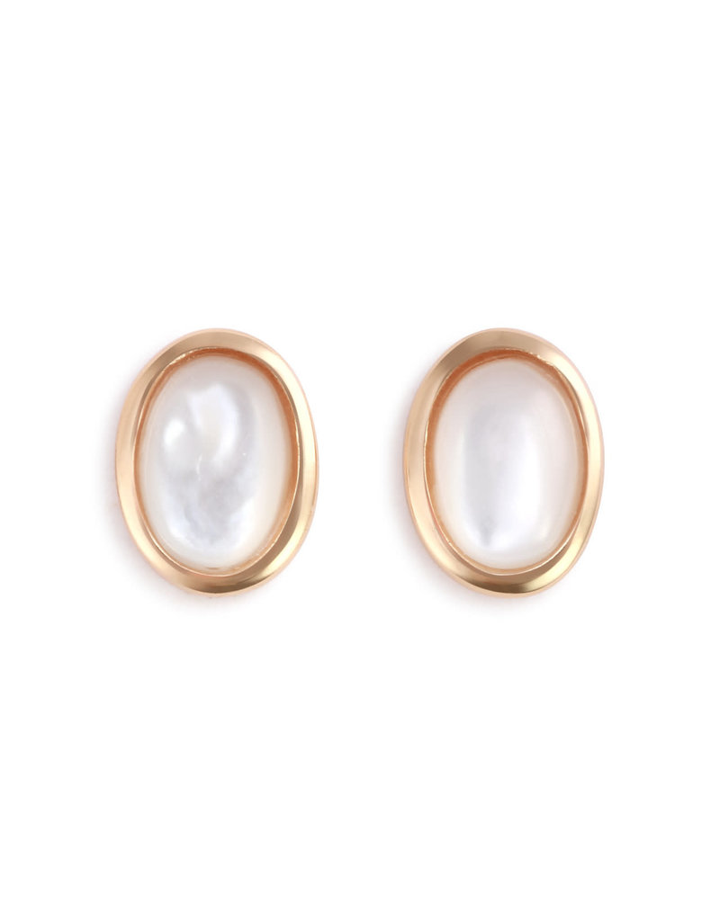 Demdaco Mother of Pearl Giving Earrings - Gold