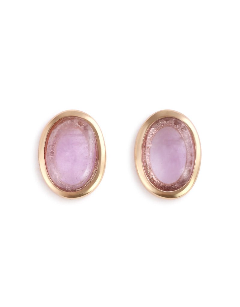 Demdaco Amethyst Giving Earrings - Gold