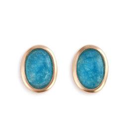 Demdaco Aquamarine Giving Earrings - Gold