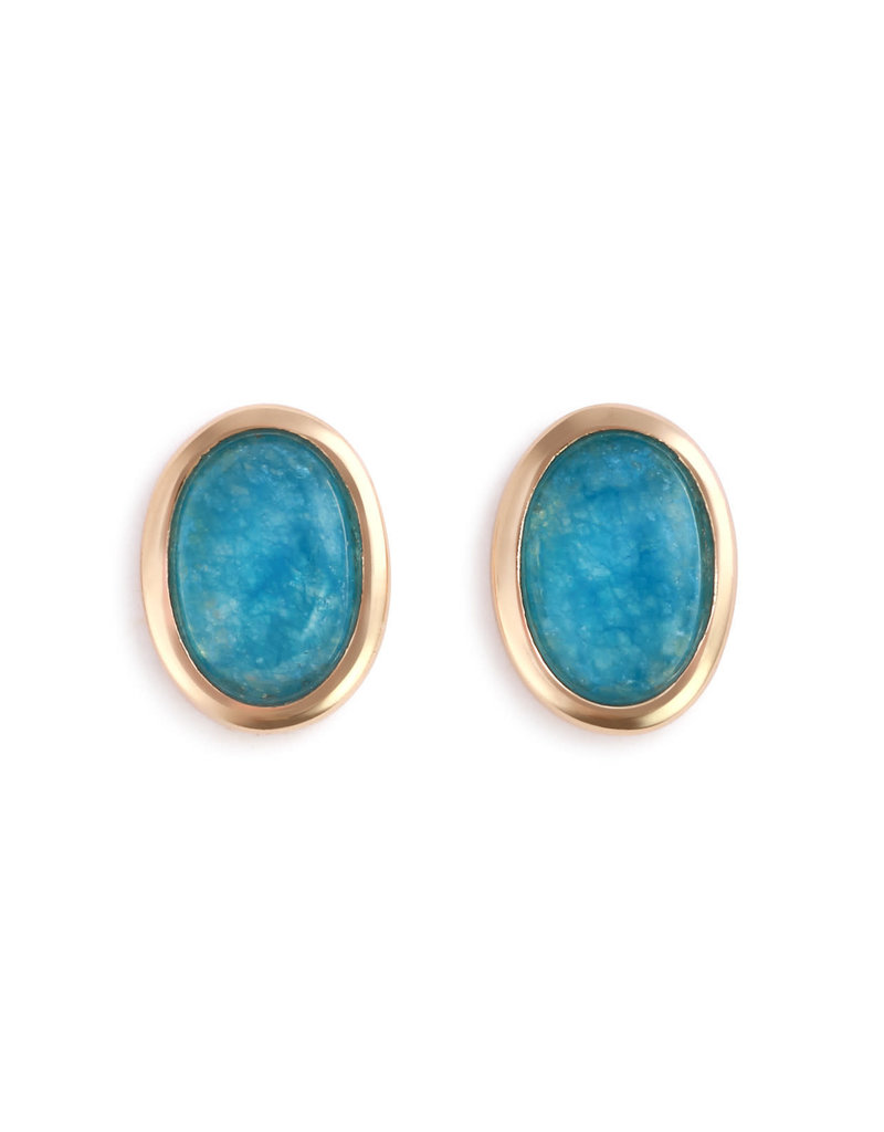Demdaco Aquamarine Giving Earrings - Gold