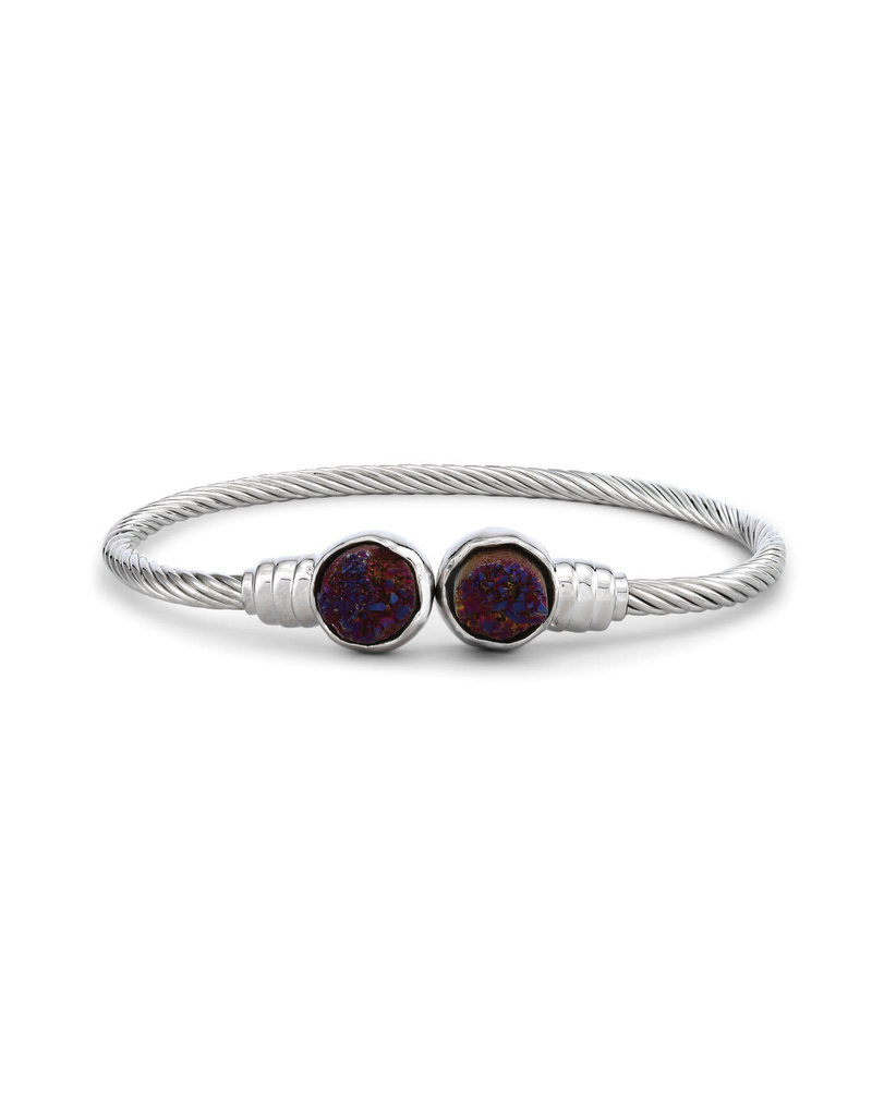 Demdaco Druzy Birthstone Bracelet- January