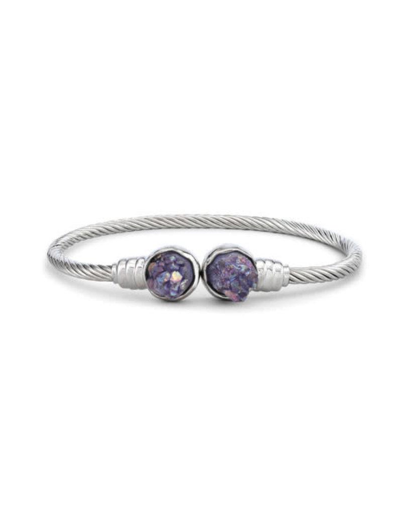 Demdaco Druzy Birthstone Bracelet- February