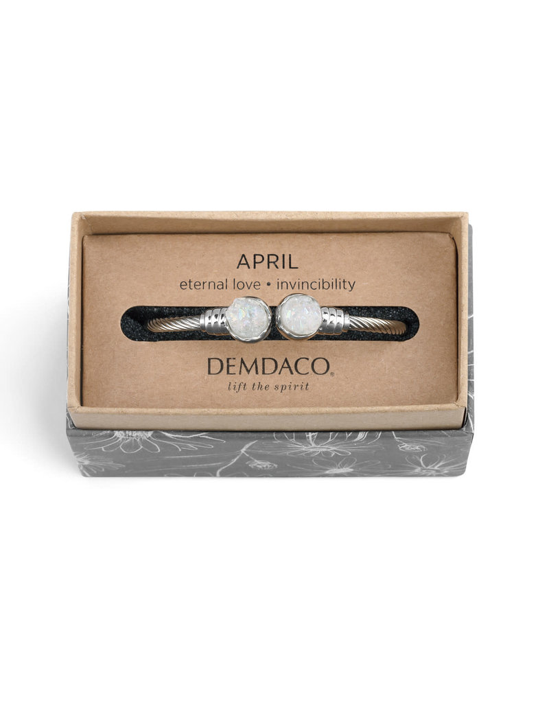 Demdaco Druzy Birthstone Bracelet- April