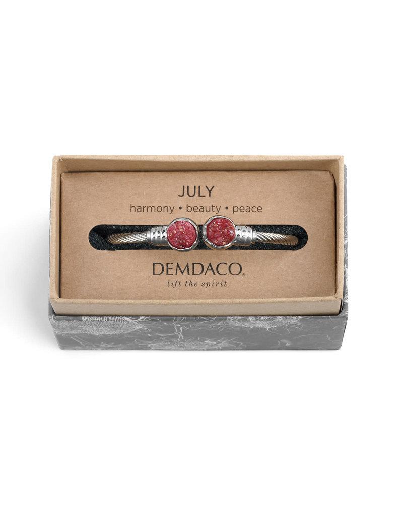 Demdaco Druzy Birthstone Bracelet- July