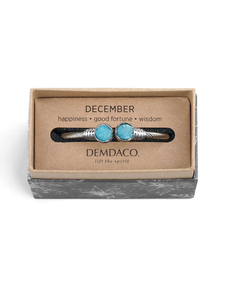 Demdaco Druzy Birthstone Bracelet -December