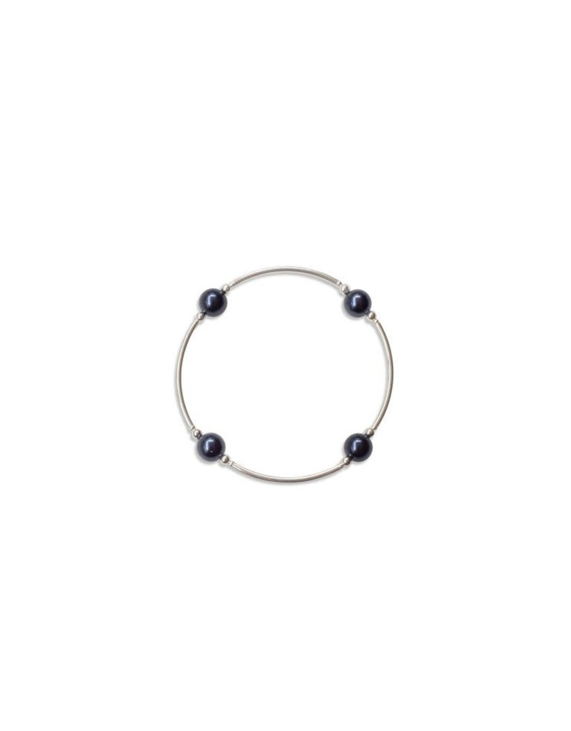 Blessing Bracelet 8mm Swarovski Pearl - Midnight Blue