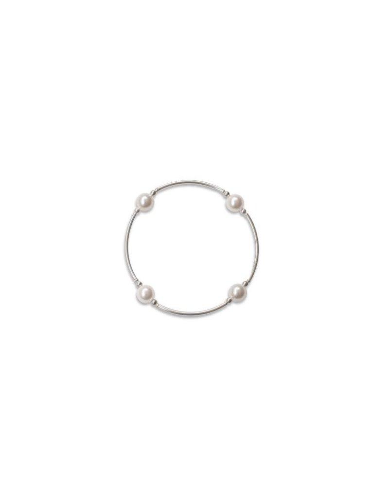 Blessing Bracelet 8mm Swarovski Pearl - White