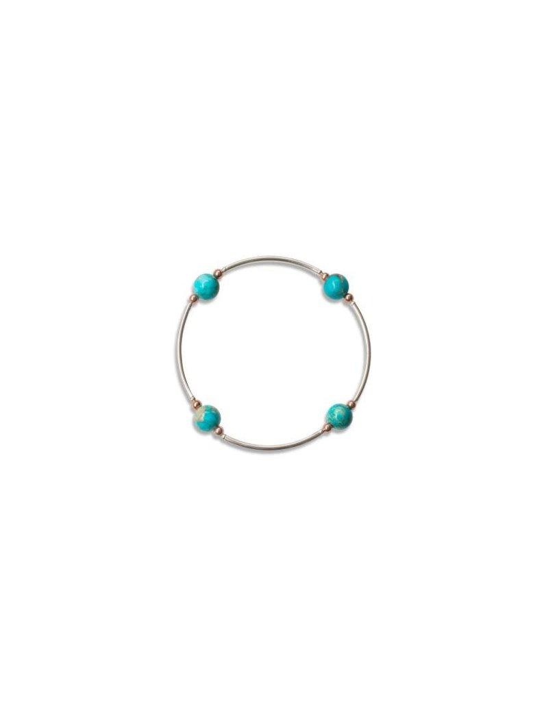 Blessing Bracelet 8mm Gemstone - Blue Jasper