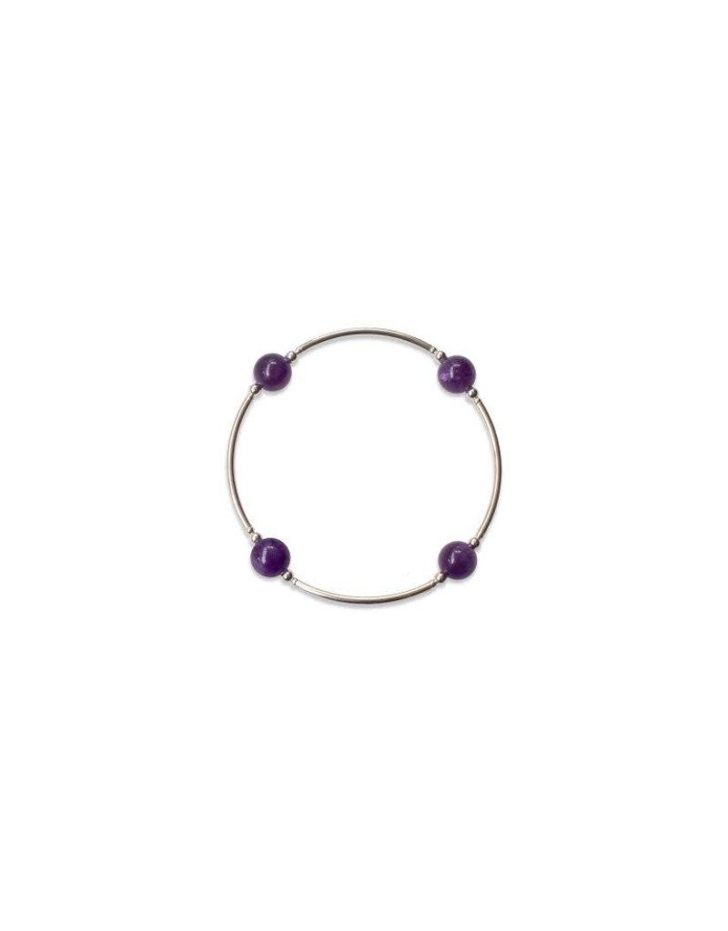 Blessing Bracelet 8mm Gemstone - Amethyst