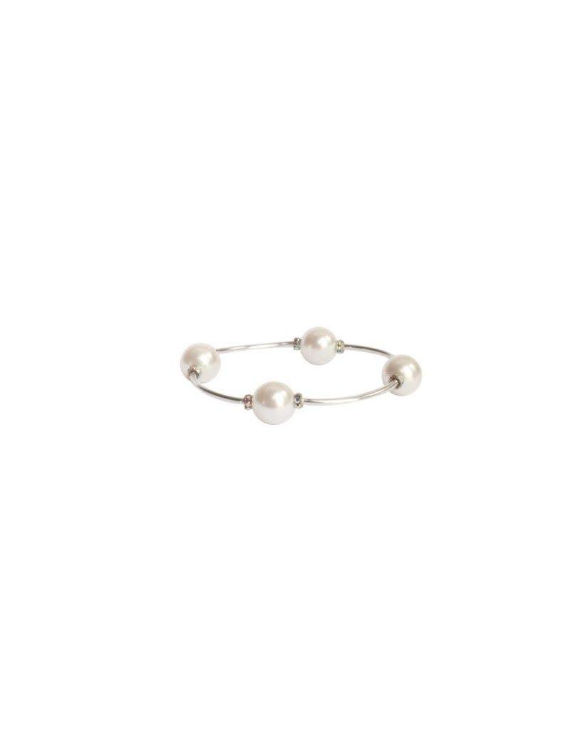 MAI Apparel Blessing Bracelet -  White Pearl