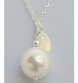 Made As Intended White Pearl Blessing Necklace