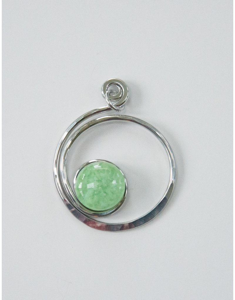 The Artist Jay Mint Green Open Curly Q Pendant