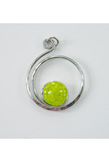 The Artist Jay Spring Green Open Curly Q Pendant