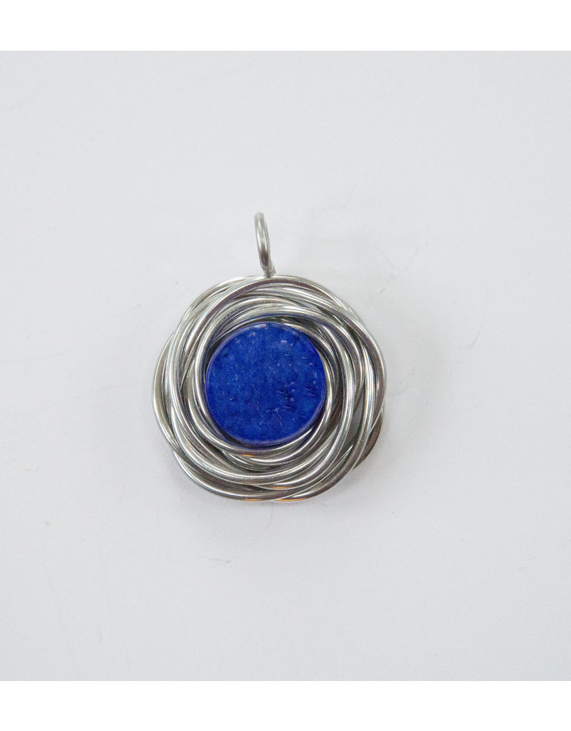 The Artist Jay Cobalt Blue Flower Nest Pendant
