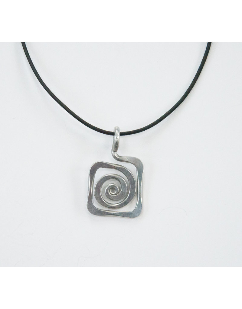 The Artist Jay Petite Spiral Square Pendant