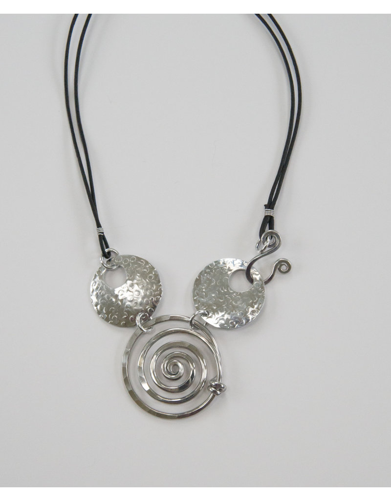 The Artist Jay Convertible Spiral Circle Necklace