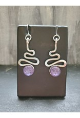 The Artist Jay Petite Plum Squiggle Earrings