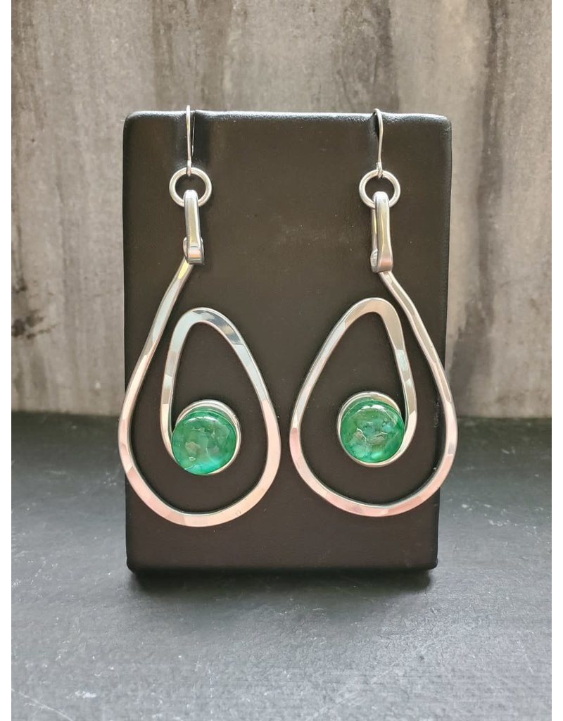 The Artist Jay Jade Green Open Teardrop Earrings