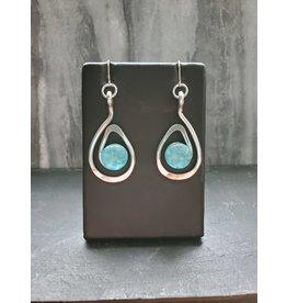 The Artist Jay Turquoise Petite Open Teardrop Earrings