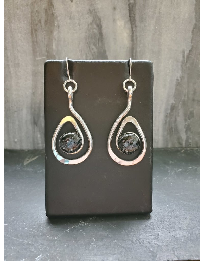 The Artist Jay Black Petite Open Teardrop Earrings