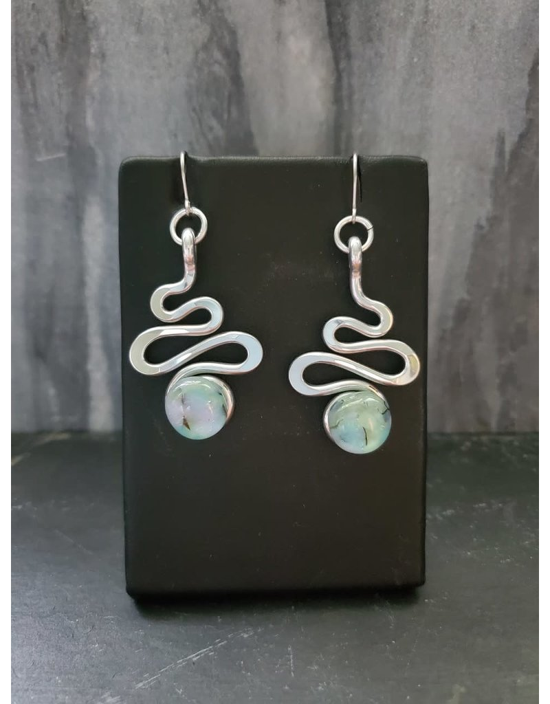 The Artist Jay Petite Sea Foam Squiggle Earrings